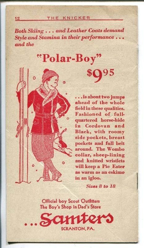 The Knicker 12/1931-pre comic book promo giveaway-Santa Claus-3 3/4 X 6 3/4-FN
