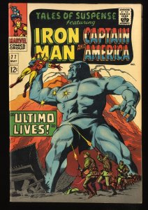 Tales Of Suspense #77 VF- 7.5 1st Peggy Carter and Ultimo Iron Man