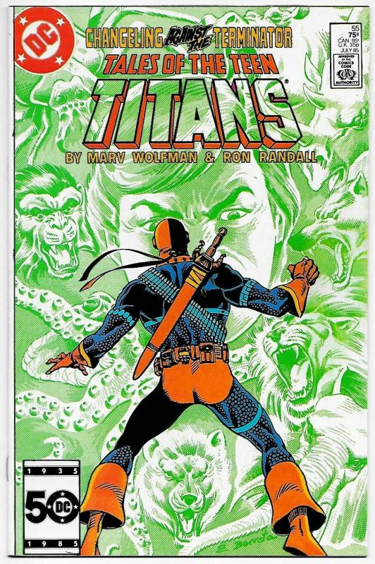 Tales of The Teen Titans #55 Deathstroke (DC, 1985) VF