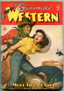 Gunsmoke Western Pulp #1 January 1947- John R Phillips Rozen cover VG