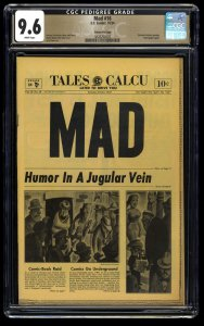Mad #16 CGC NM+ 9.6 White Pages Gaines File Copy