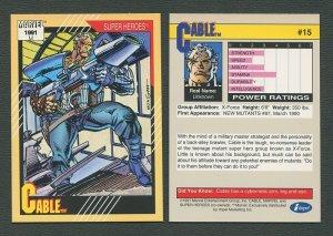 1991 Marvel Comics II  Card  #15 ( Cable )  MINT