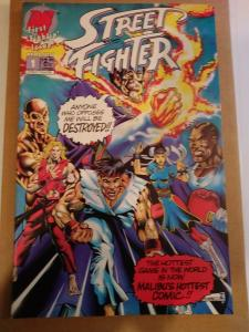 STREET FIGHTER #1  FIRST COMIC BOOK APP OF RYU, CHUN LI, KEN, ETC MALIBU  1993