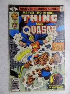 MARVEL TWO-IN-ONE # 53 THING QUASAR