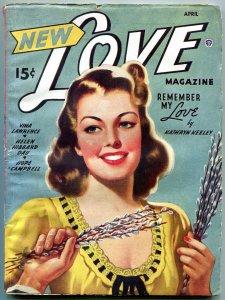 New Love Pulp April 1946- Kathryn Keeley- Vina Lawrence VG/F