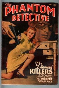 PHANTOM DETECTIVE-MAY 1948-WILD ACTION--HARDBOILED PULP HERO--ROBERT WALLACE FN
