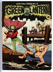 Green Lantern #9 1943 Hop Harrigan-comic book-Rare DC Golden-Age