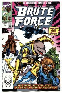 Brute Force #1 1990 1st appearance Marvel NM-