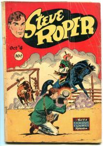 Steve Roper #4 1948-Famous Funnies-Golden Age POOR