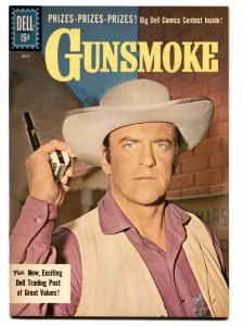Gunsmoke #27 1961-Dell-James Arness TV photo-Last issue- NM-