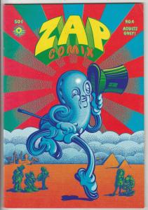 Zap #4 (Jan-68) VF/NM High-Grade Mr. Natural, Flakey Font, Wonder Wart Hog, t...