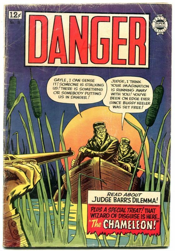 Danger #18 1964-Super Golden Age reprints- Annie Oakley- LB Cole VG
