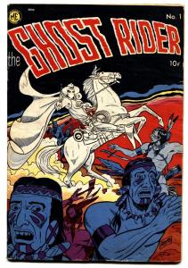 GHOST RIDER #1 1950-ME-PRE-CODE-First issue-Dick Ayers-Comic Book