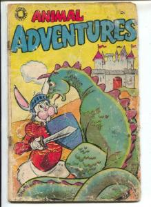Animal Adventures #1 1950's-Accepted-funny animals-dragon cover-P