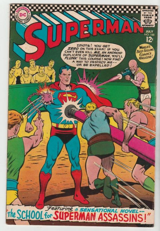 Superman #188 (Jul-66) FN/VF- Mid-High-Grade Superman