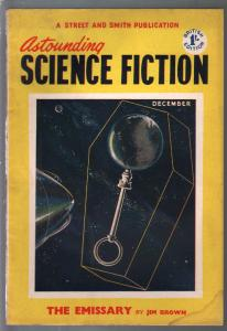Astounding Science Fiction British Edition 12/1953-sci-fi pulp fiction-VG
