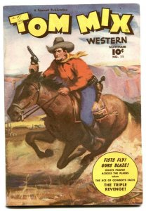 Tom Mix Western #11 1948- Fawcett Painted cover- high grade VF