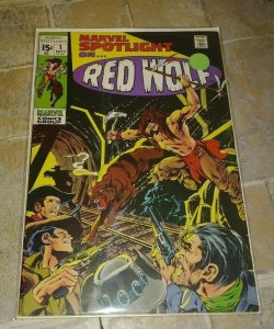 MARVEL SPOTLIGHT   # 1 1971 MARVEL RED WOLF + AVENGERS