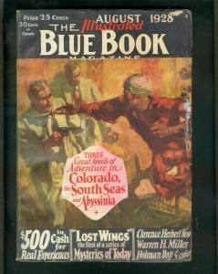 BLUE BOOK PULP AUG 1928-COLORADO-SOUTH SEAS-FRANK HOBAN VG