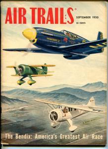 AIR TRAILS 09/1950-STREET & SMITH-PULP-CALHOUN SMITH-BENDIX-AVIATION PIX-fn-