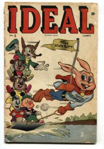 Ideal #3 1945-Timely-Super Rabbit-WWII era-vg-