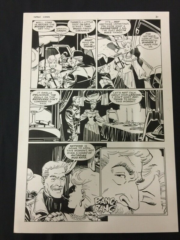 Captain Cosmos Page 31 Original Art Joe Stanton Nicola Cuti Space Opera