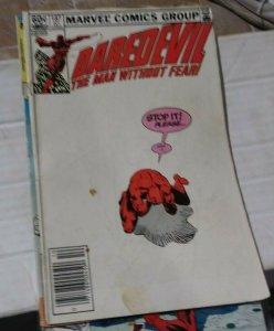 DAREDEVIL  # 187 marvel 1982  FRANK MILLER   HAND STICK  FURY NINJAS BLACKWIDOW