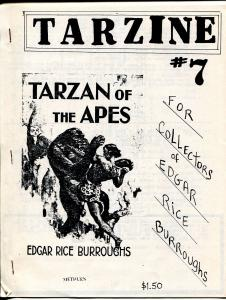 Tarzine #7 10/1982-Weintz-Edgar Rice Burroughs-Tarzan-collector info-FN/VF