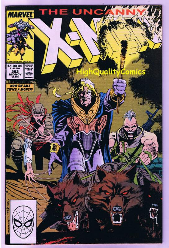 X-MEN #252, VF, Wolverine, Jim Lee, Claremont, Uncanny, more in store