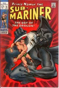 SUB MARINER 15 F+  July 1969 COMICS BOOK