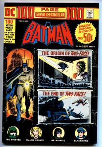 DC 100-PAGE SUPER SPECTACULAR #20-BATMAN-1973 Origin of Two-Face-VF
