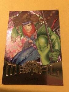 GAMBIT #4 card : Marvel Metal 1995 Fleer Chromium NM/M, X-Men, base