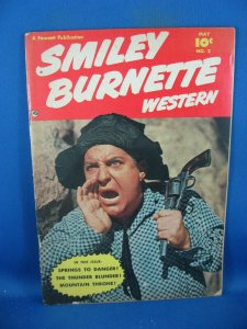SMILEY BURNETTE WESTERN 2 VG PHOTO COVER 1950
