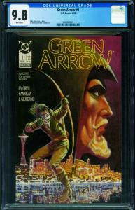 Green Arrow-#1 CGC 9.8 1988-mike grell-2020820001