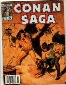 2 Comics Conan Saga #14 Savage Sword of Conan #149 TPB Graphic Novel Comics J342