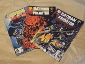 Batman Versus Predator #1 - #3 - NM - FULL SET! Newsstand Editions!