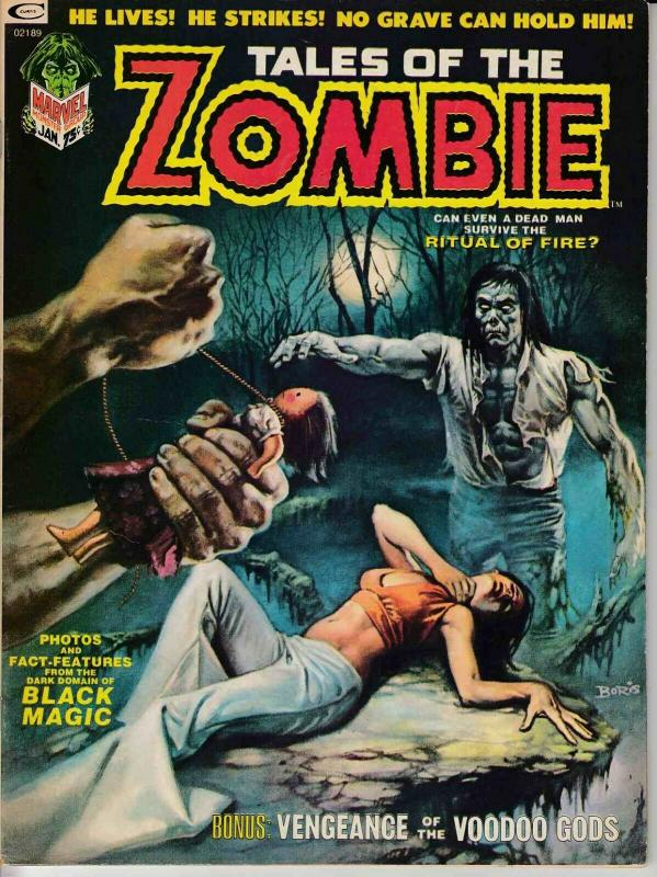 TALES OF THE ZOMBIE MAGAZINE #3 (1974) MARVEL COMICS VERY FINE (8.0) SIMON GARTH