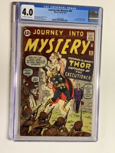 journey into Mystery 84 cgc 4.0 1st jane foster Ow/w Pages Marvel Silver Age