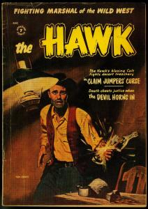 THE HAWK #6 1954 PAINTED COVER  SIOUX INDIANS ST JOHN VG