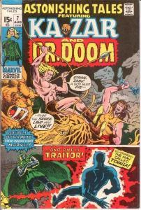 ASTONISHING TALES (1970-1976) 7 VG DOCTOR DOOM COMICS BOOK