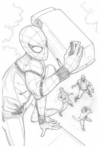 Spider-Man Homecoming Original Spider-Man Pencil Art by Steve Kurth PUBLISHED