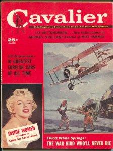 Cavalier 3/1960-Fawcett-Mickey Spillane-Marilyn Monroe-Clayton Knight-FN