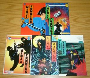 Ninja Funnies #1-5 FN/VF complete series - eternity comics set lot 2 3 4 1987