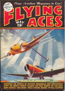 Flying Ace 5/1936-Capt Philip Strange-Kery Keen-hero pulp-VG