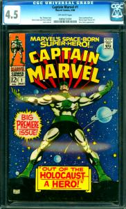Captain Marvel #1 CGC Graded 4.5