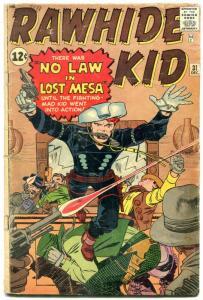 Rawhide Kid #31 1963- Jack Kirby- Marvel Silver Age Western G