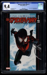 Ultimate Spider-Man (2011) #1 CGC NM 9.4 White Pages Miles Morales!
