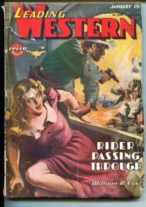 LEADING WESTERN 01/1946-TROJAN-HARD BOILED FICTION-SPICY-GOOD GIRL ART-good/vg