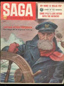 SAGA MAGAZINE NOV 1956-JAYNE MANSFIELD-SOPHIA LOREN-WW2 VG/FN