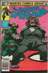 Amazing Spider-Man #232 ORIGINAL Vintage 1982 Marvel Comics Newsstand